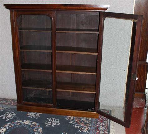 mahogany bookcase with doors 2 door mahogany bookcase with glazed doors antiques atlas
