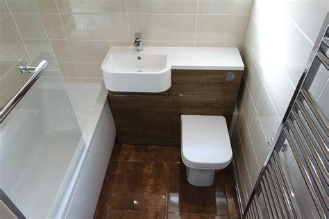 Bathroom Fitted with Tavistock Match Vanity in Havana Oak