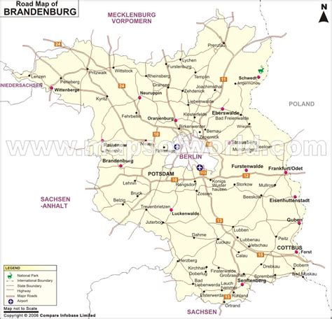 germany driving map brandenburg road map map of brandenburg road germany