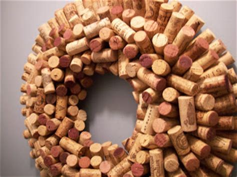 connect the dots wine cork wreath