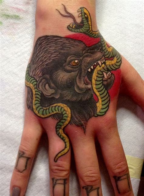 honey badger tattoo honey badger