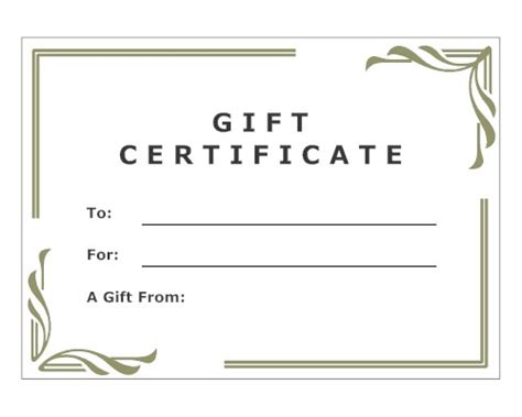 best photos of make your own gift certificates make your
