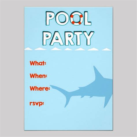 free pool party invitation templates cimvitation