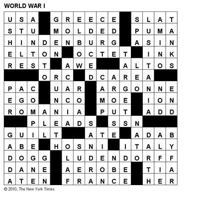 usa today crossword solution july 17 crosswords world war i