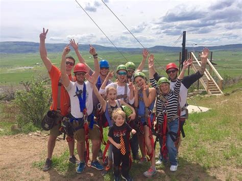 steamboat zipline adventures steamboat springs co posing with our guides after an awesome day picture of