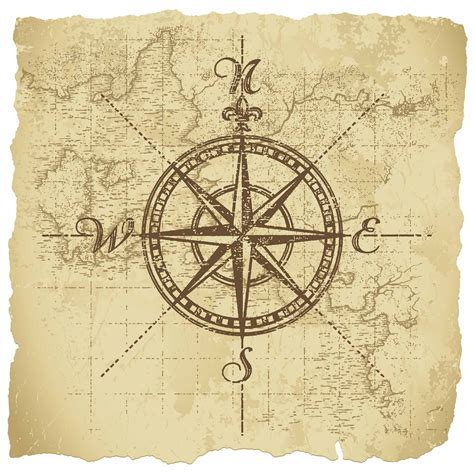 parchment tattoo designs vintage compass on parchment paper background all