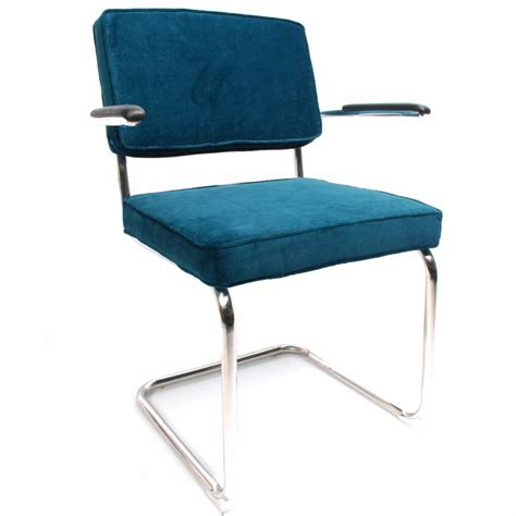 Light Dining Chairs Corduroy Dining Chair With Arm Light Blue Shipped Within 24 Hours Furnwise