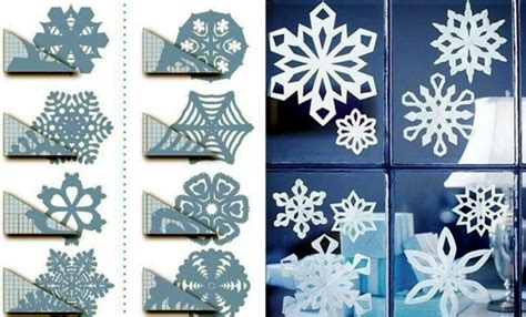snowflakes craft and decorate the apartment for christmas