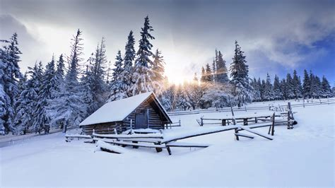 Ranch Farmhouse by Winter Wallpapers High Quality Download Free
