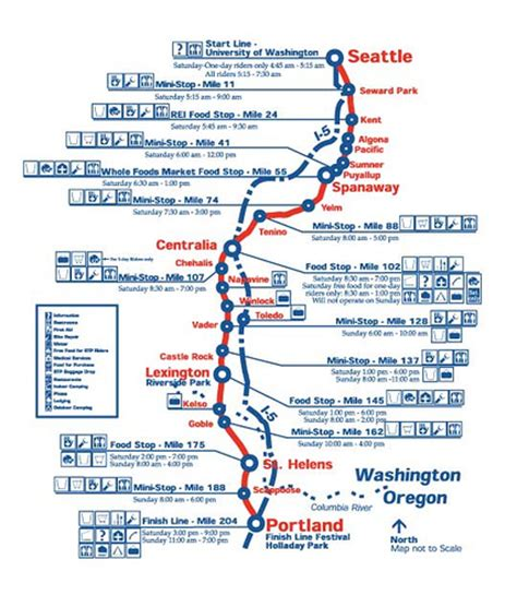 seattle map my ride route map of the seattle to portland bike classic on july