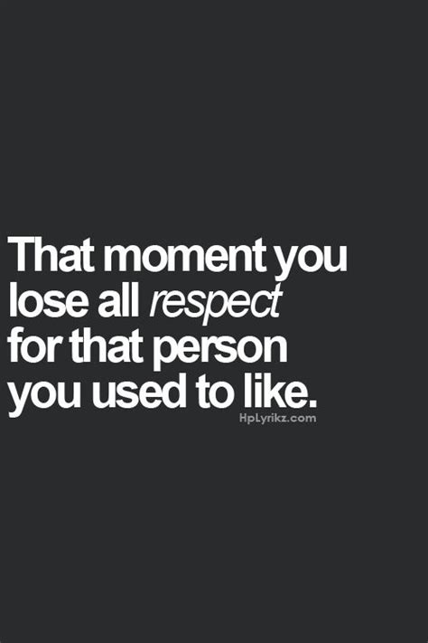 I Used To Be All - the moment you lost all respect absolutely i used to