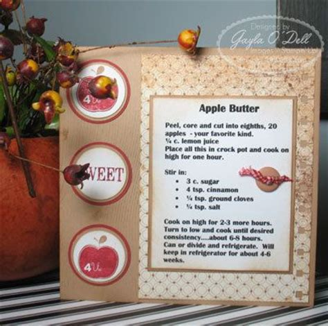 apple butter card template 17 best images about 6x6 recipe cards on
