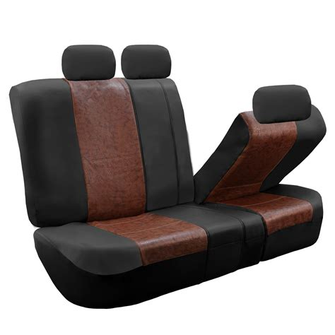 leather bench seat cover textured pu leather split bench seat covers ebay