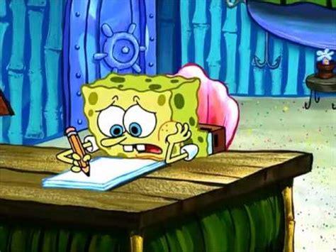 spongebob writing paper writer s block
