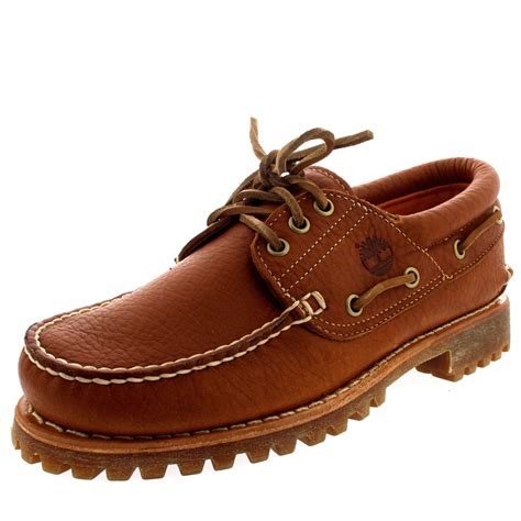 vans boat shoes on feet mens timberland trad heritage 3 eye classic lug leather