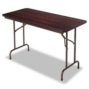 Sams Club Folding Table Alera 4 Melamine Folding Table Walnut Sam S Club