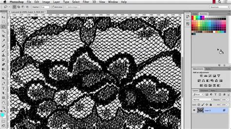 pattern making in photoshop illustrator cc lace pattern brush part 1 youtube