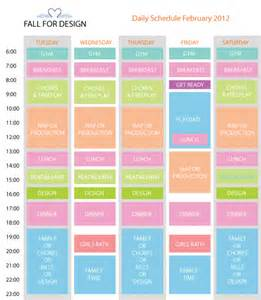 stay at home daily schedule template 9 best images of printable daily schedule for daily