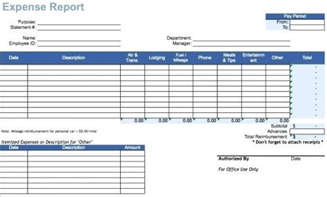 Expense Report Template Word Virtuart Me Expense Report Template Excel 2010