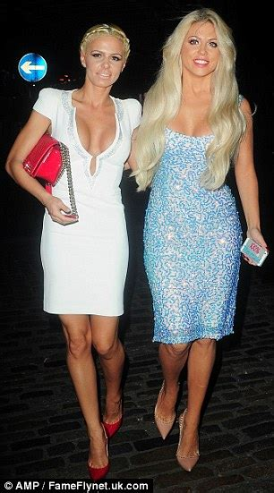 Partying Almost Busts by Gascoigne Showcases Curvy Figure In Sparkling Dress