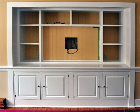 tv cupboard built in entertainment center designs turn a closet into