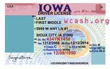 template iowa drivers license template photoshop