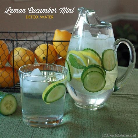 Green Tea Lemon Cucumber Detox by A Guest Post On Some Delish Lemon Cucumber Mint Detox