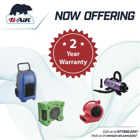 b warranty b air sets benchmark again by increasing warranty to two