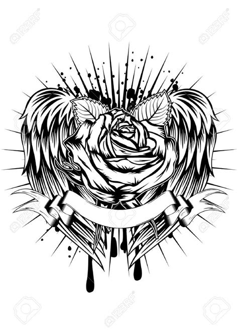 rose tattoo with angel wings 32 best images about on