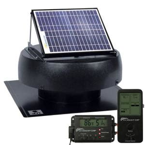 us sunlight sunfan 10 watt solar powered attic fan with