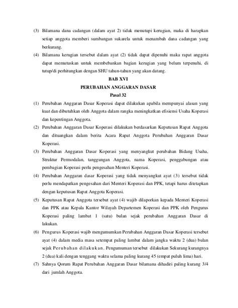 format berita acara rapat anggota koperasi anggaran dasar dan rumah tangga koperasi quot kompas quot