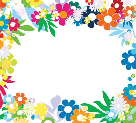 Free Floral Colorful Frames Backgrounds For Powerpoint Drawing Colorful Flower Backgrounds For Powerpoint Templates