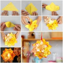 Crafting Ideas For Home Decor diy origami kusudama decoration