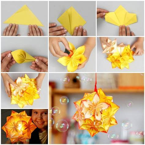 Simple Origami Decorations - diy origami kusudama decoration