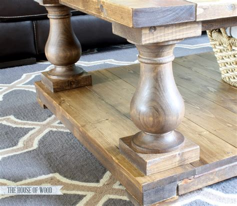DIY Balustrade Coffee Table Plans from Ana White, House of Wood & Osborne Wood Products