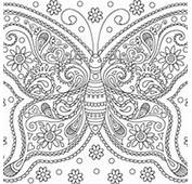 Desenho De Borboleta Para Adultos Colorir  Tudodesenhos