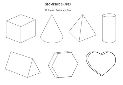 How To Make 3d Geometric Shapes Out Of Paper - printable shape coloring pages