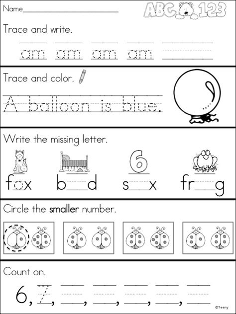 Morning Worksheets by A Teeny Tiny Kindergarten Morning Work Pre K