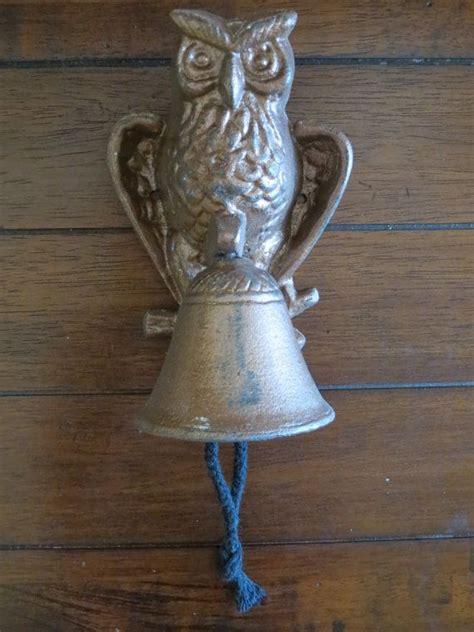 cast iron owl dinner bell door knocker owl d 233 cor
