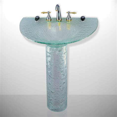 Half Pedestal Sink contemporary bath half moon pedestal sink atg stores