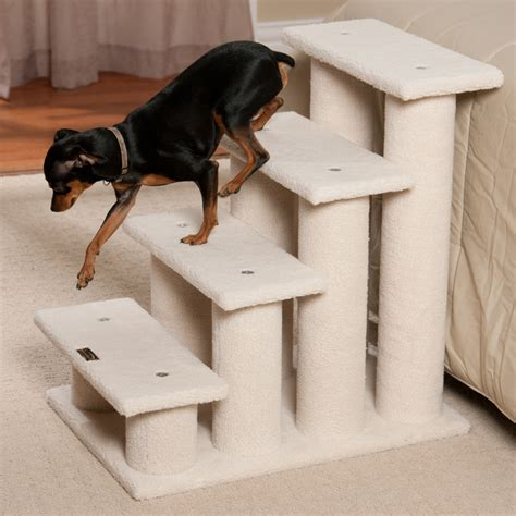 Dog Ramp For Bed Dog Stairs Plans Home Design By Larizza