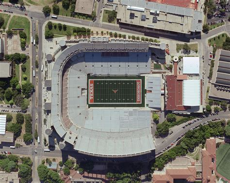 university of texas stadium map darrell k royal texas memorial stadium midwest aerial photography