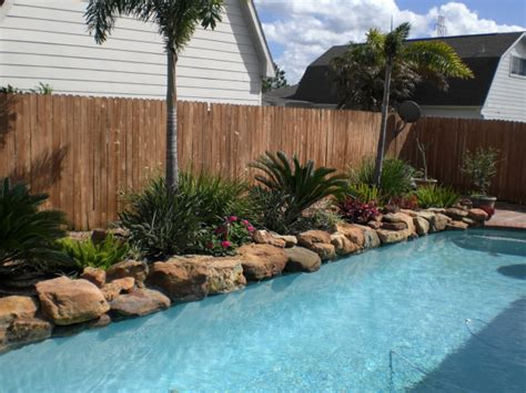 landscaping ideas around a pool personable creative