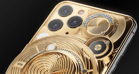 pure gold iphone  pro   diamonds costs