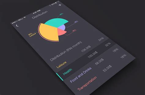 design app background sleek charts and graphs mobile apps featuring statistics