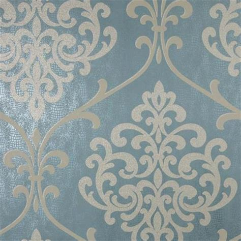 glitter wallpaper argos 2542 20715 ambrosia teal glitter damask by kenneth james
