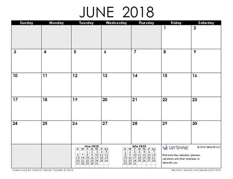 Calendar 2018 May June July 2018 Calendar Templates And Images