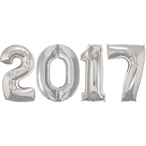 Number Foil Balloon balloon foil number set large silver 2017 foil