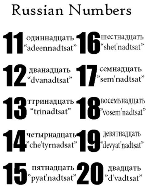 printable russian numbers russian numbers 11 to 20 worksheet
