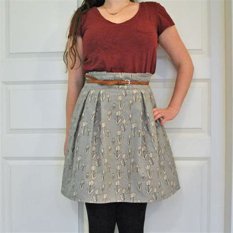 paper bag waist skirt pattern free paper bag skirt tutorial 183 how to make a high waisted